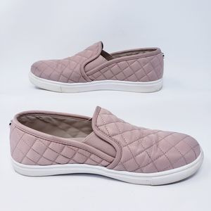 Steve Madden Quilted Slip-On Sneakers Pink Size 9M
